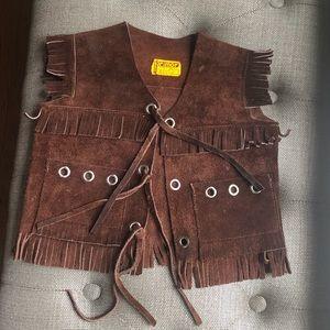 Other - Vintage Suede Kid Vest size 2-4